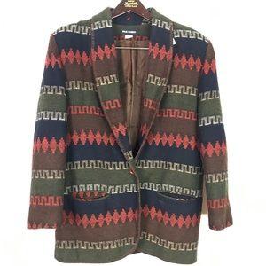 Vintage Paul Harris Aztec 90's Blazer Large